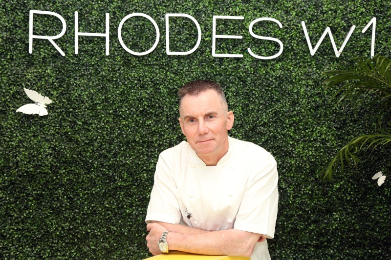 Gary Rhodes OBE, Ambassador and Judge, MEHA 2017 at Dubai restaurant Rhodes W1 at Grosvenor House