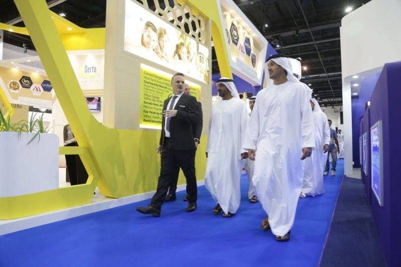 HH Sheikh Ahmed bin Saeed Al Maktoum with Matt Denton, President at dmg events Middle East, Asia and Africa