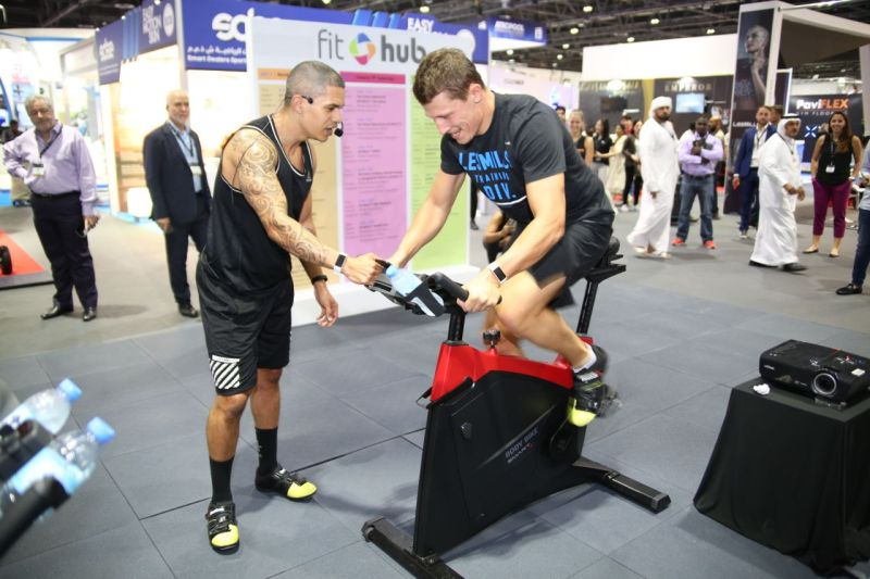 Fitness demonstrations at The Fit Hub - The Leisure Show Dubai 2017