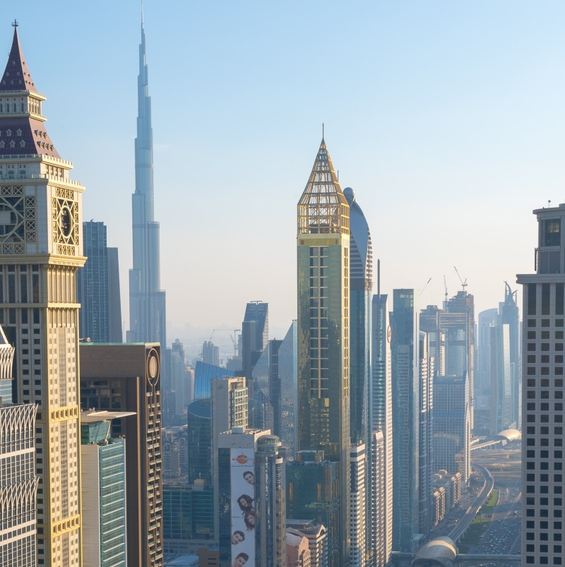 Gevora Hotel - the tallest hotel in the world - recently opened on Dubai's Sheikh Zayed Road