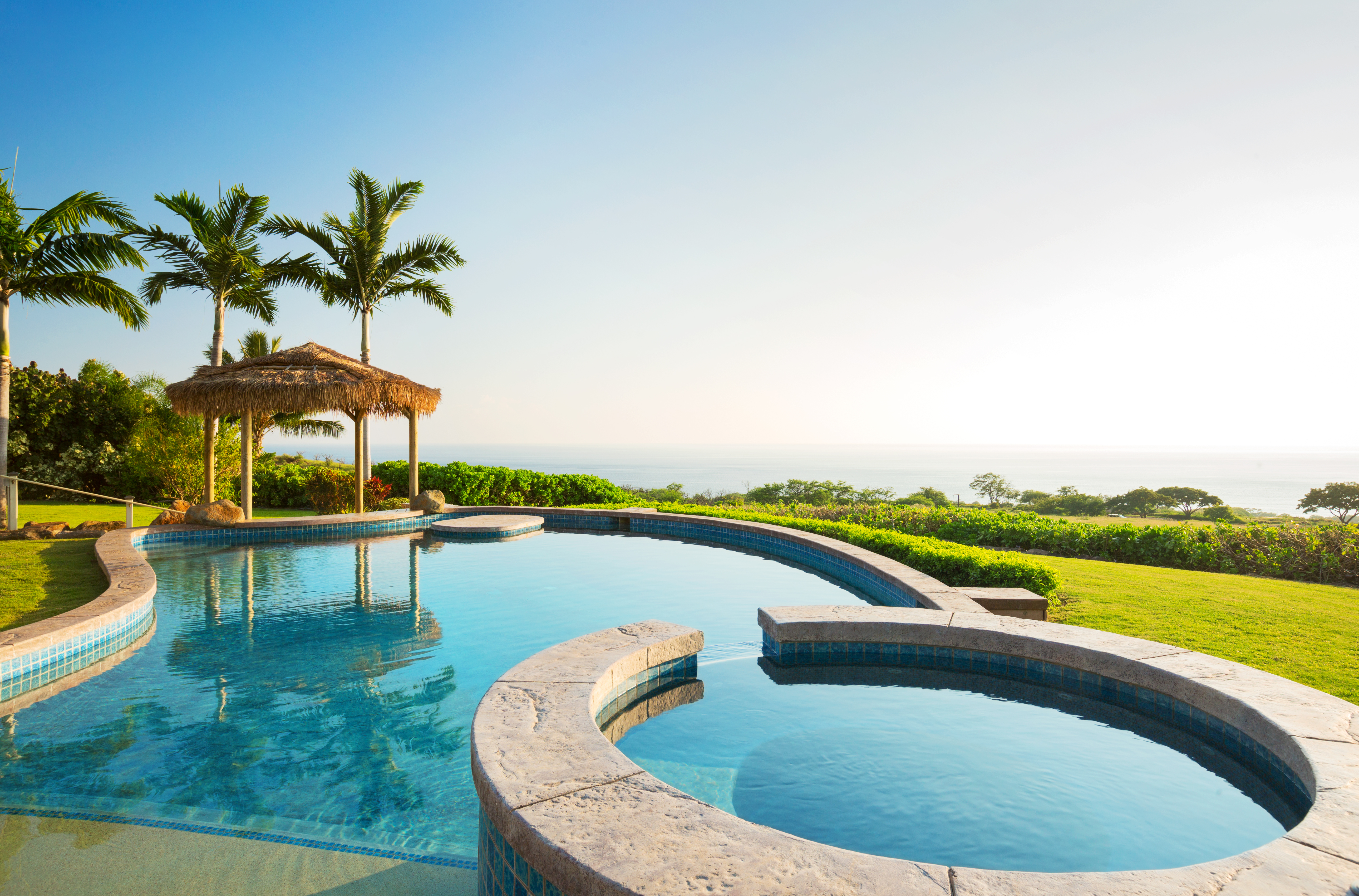 Swimming pool at luxury tropical resort – talkabouthospitality