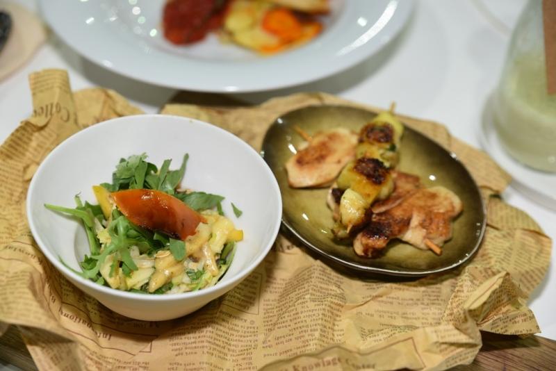 بعض الأطباق التي تم إعدادها في إطار مسابقة الطهي بين الفنادق في ۲٠۱٧